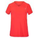 Women`s Practice Short Sleeve Tennis Top 700_DIVA_PINK