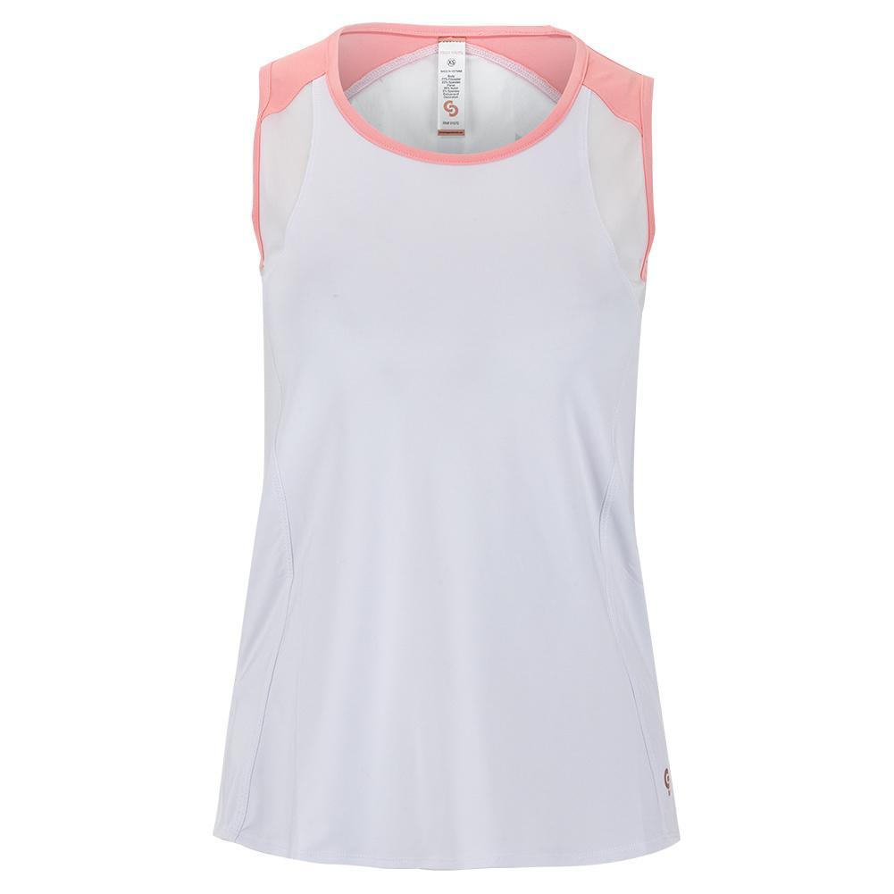 Women's Blush Lady Tennis Tank White