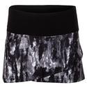 Women`s Essentials Tiered 13.5 Inch Tennis Skort 002_BLACK/MRBL
