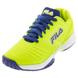 Men`s Axilus 2 Energized Tennis Shoes Acid Lime and Blueprint
