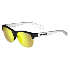 Swank SL Sunglesses Satin Black and Clear with Smoke Yellow Lenses