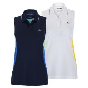 Women`s Color Block Sleeveless Tennis Polo