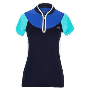 Women`s Color Block Tennis Polo
