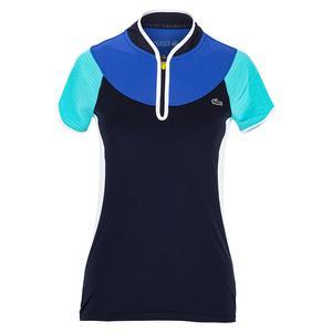 Women`s Color Block Tennis Polo