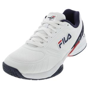 Men`s Volley Zone Pickleball Shoes White and Fila Navy