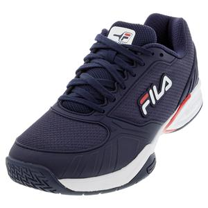 Men`s Volley Zone Pickleball Shoes Fila Navy and Red