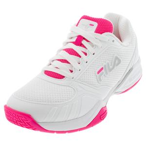 Women`s Volley Zone Pickleball Shoes White and Knockout Pink