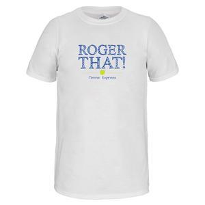Unisex Roger That Tennis Tee White