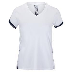 Women`s Claire Short Sleeve Tennis V Neck