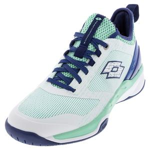 Women`s Mirage 200 Speed Tennis Shoes Green Cabbage and All White