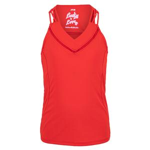 Girls` Entwine Racerback Tennis Tank Ruby Red