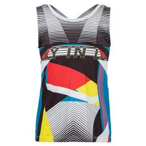 Girls` Future Retro Tie Back Tennis Tank Black