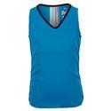 Girls` Lightweight Rib Tennis Tank 450_PARADISE_BLUE
