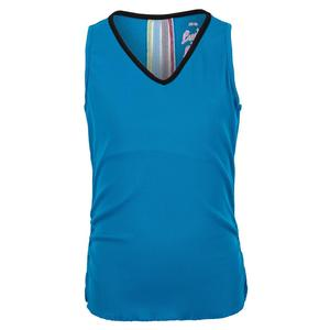 Girls` Lightweight Rib Tennis Tank