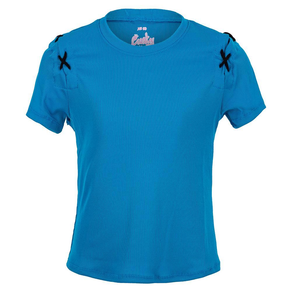 Girls ` Xo Xo Short Sleeve Tennis Top