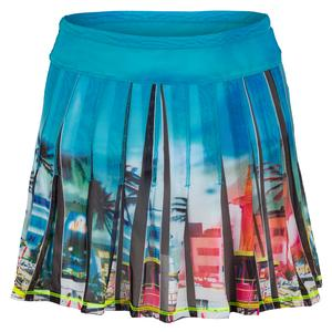 Women`s Long Miami Mesh Pleated Tennis Skirt
