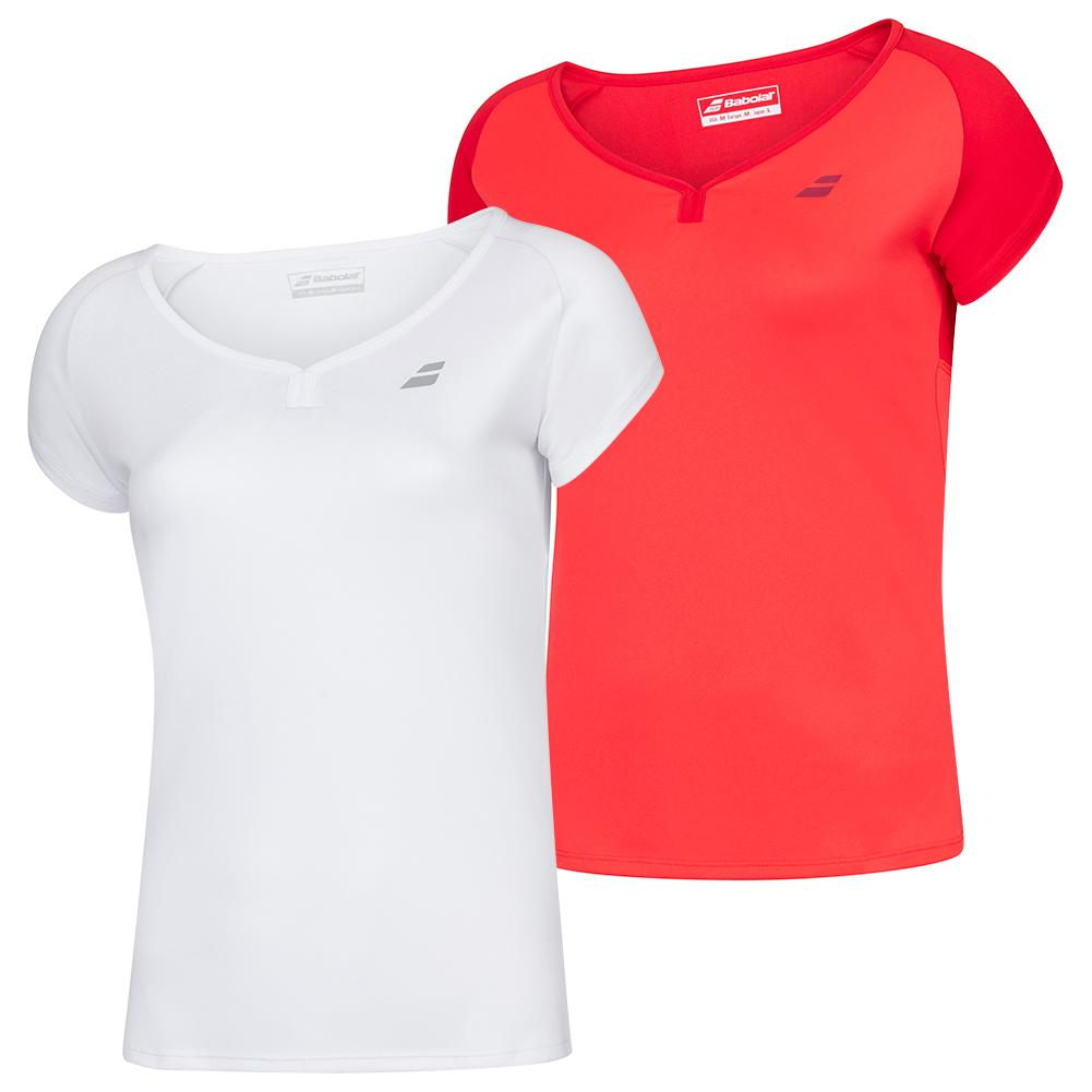 Girls ` Play Cap Sleeve Tennis Top