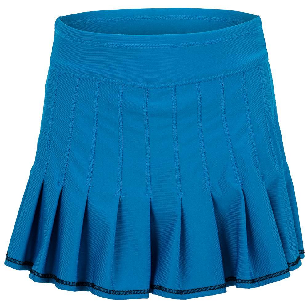 Girls ` Mini Retro Pleated Tennis Skort Paradise Blue