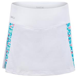 Women`s Blue Bayou Tennis Skort White and Print