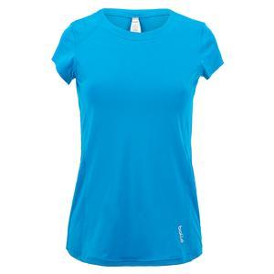 Women`s Blue Bayou Tennis Cap Sleeve Peacock Blue