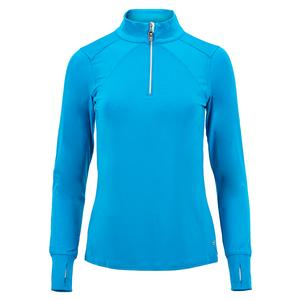 Women`s Blue Bayou Tennis Long Sleeve Peacock Blue