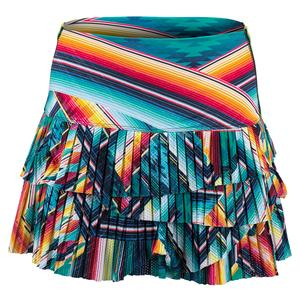 Women`s Hi-Desert Bloom Pleated Scallop Tennis Skort