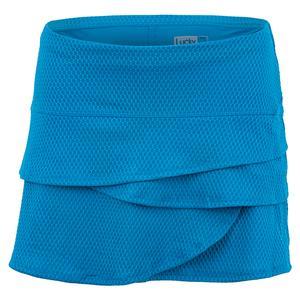 Women`s Wavy Scallop Tennis Skort Paradise Blue