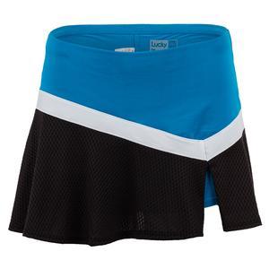 Women`s LIL Victory Tennis Skort Paradise Blue and Black