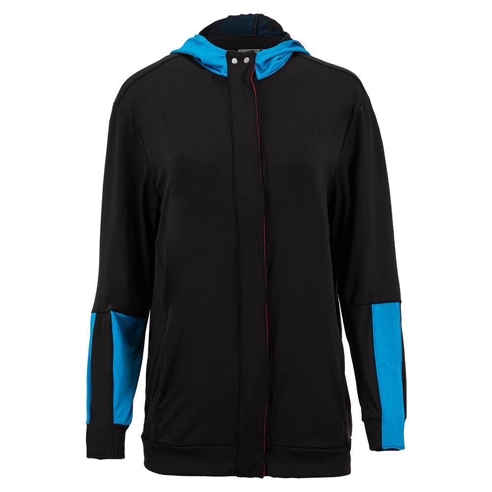 Women's Midi Varsity Tennis Jacket Black