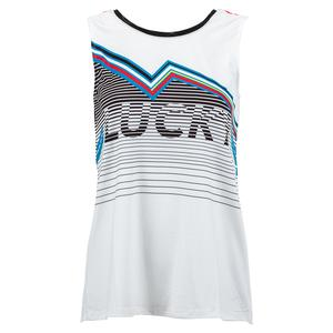 Women`s LIL Tie Back Tennis Tank White