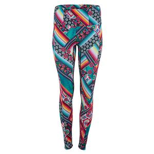 Women`s Hi-Mirage Tennis Legging Black and Print