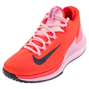 Women`s Air Zoom Zero Tennis Shoes Laser Crimson and Pink