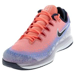 Women`s Air Zoom Vapor X Knit Tennis Shoes Royal Pulse and Obsidian