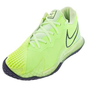 Men`s Air Zoom Vapor Cage 4 Tennis Shoes Ghost Green and Barely Volt