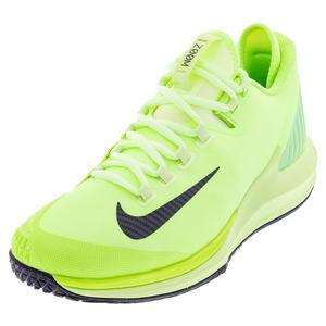 Men`s Air Zoom Zero Tennis Shoes Ghost Green and Barely Volt