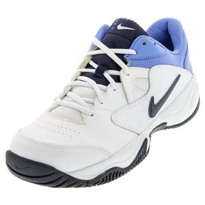 Men`s Court Lite 2 Tennis Shoes White and Royal Pulse
