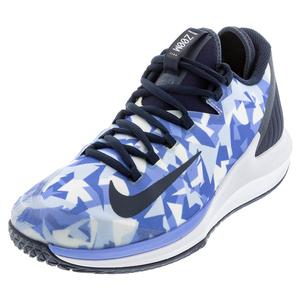 Men`s Air Zoom Zero Tennis Shoes Royal Pulse and Obsidian