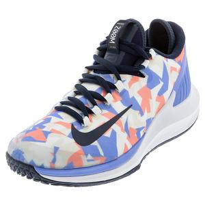 Women`s Air Zoom Zero Tennis Shoes Royal Pulse and Obsidian