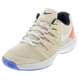 Women`s Air Zoom Prestige Tennis Shoes Light Orewood and White