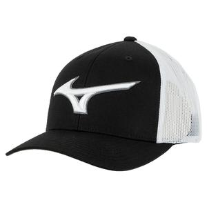 Mesh Tennis Cap Black and White