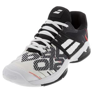 Men`s Propulse Fury All Court Tennis Shoes White and Black