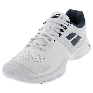 Men`s Propulse Blast All Court Tennis Shoes White and Estate Blue
