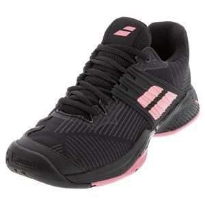 Women`s Propulse Fury All Court Tennis Shoes Black and Geranium Pink
