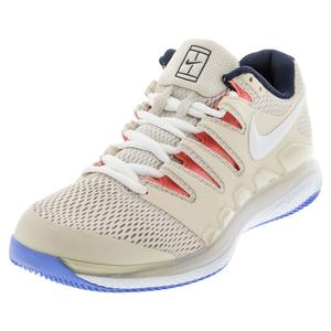 Women`s Air Zoom Vapor X Tennis Shoes Light Orewood Brown and White