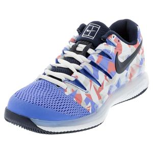 Women`s Air Zoom Vapor X Tennis Shoes Royal Pulse and Obsidian