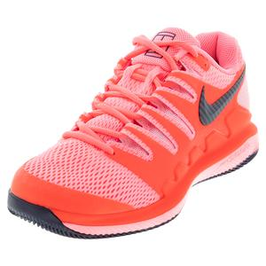 Women`s Air Zoom Vapor X Tennis Shoes Laser Crimson and Pink
