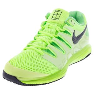 Men`s Air Zoom Vapor X Tennis Shoes Ghost Green and Barely Volt