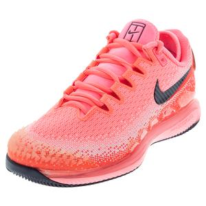 Women`s Air Zoom Vapor X Knit Tennis Shoes Laser Crimson and Pink