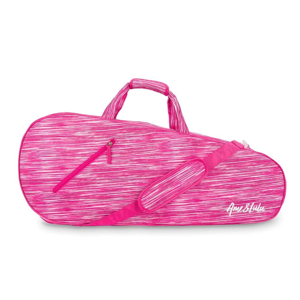 Grunge Polka Dots in Magenta Sports Bag
