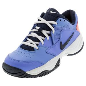 Women`s Court Lite 2 Tennis Shoes Royal Pulse and Obsidian